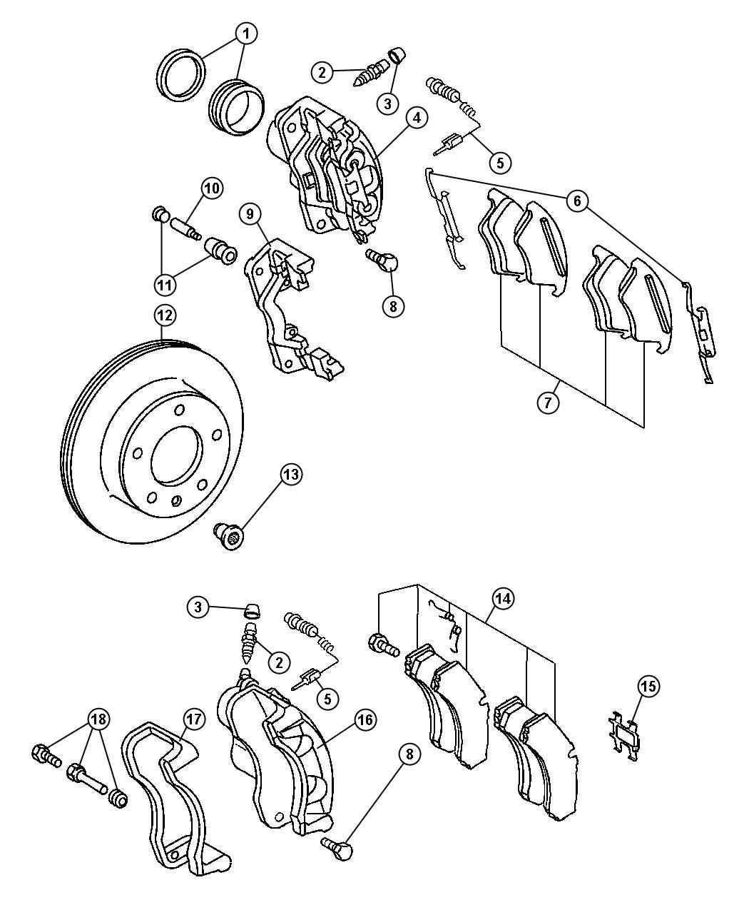 2006 Dodge SPRINTER 3500 Pad kit. Disc brake. Bosch, bosch