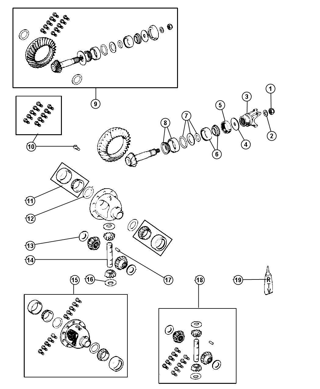 Dodge Grand Caravan Gear Kit Center Differential
