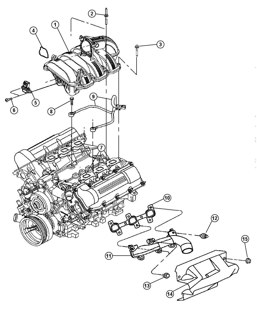 2013 Chrysler 200 Gasket. Throttle body to intake. Evaevd