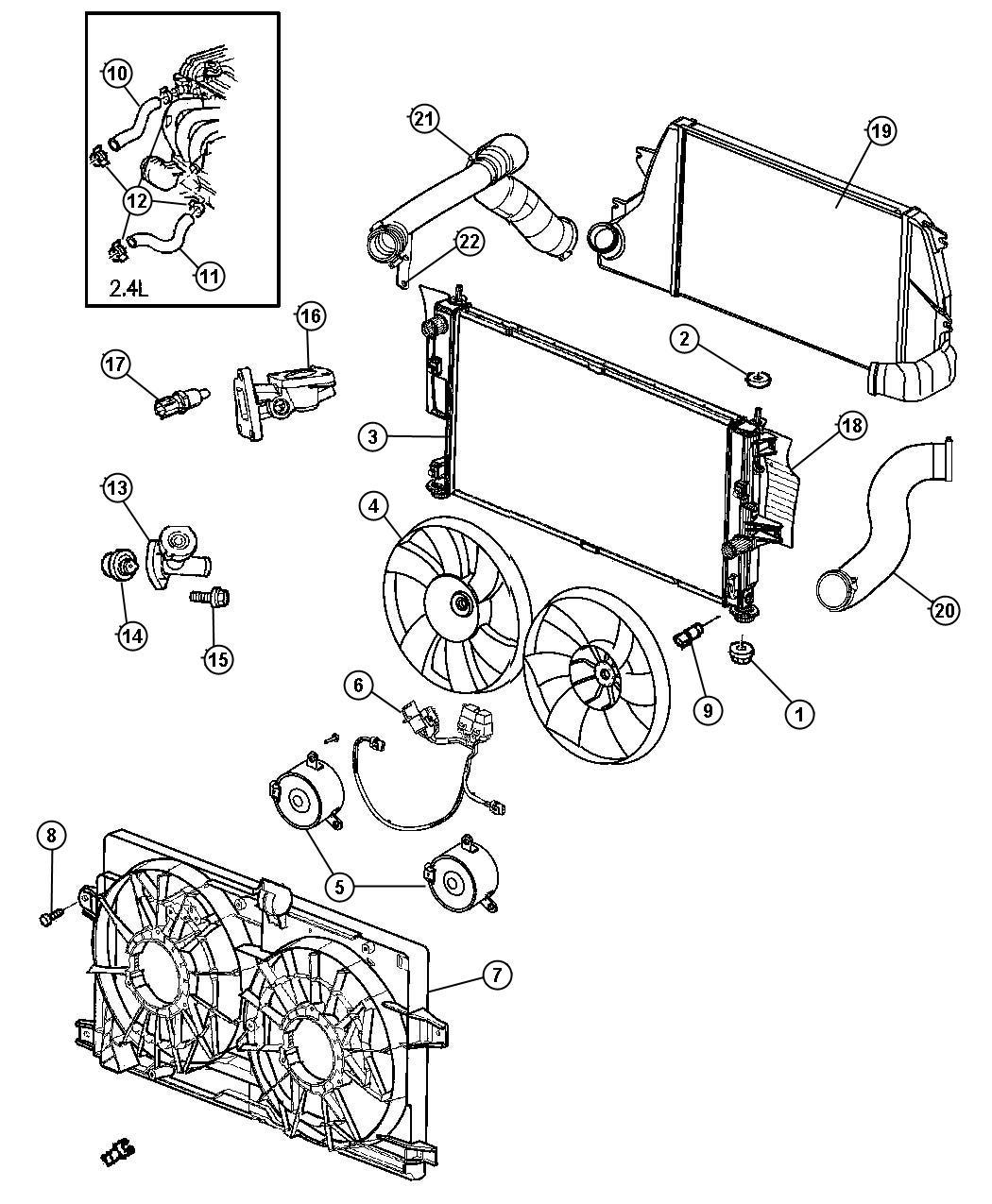 Dodge Ram Fan Cooling Left Duty Engine Nms