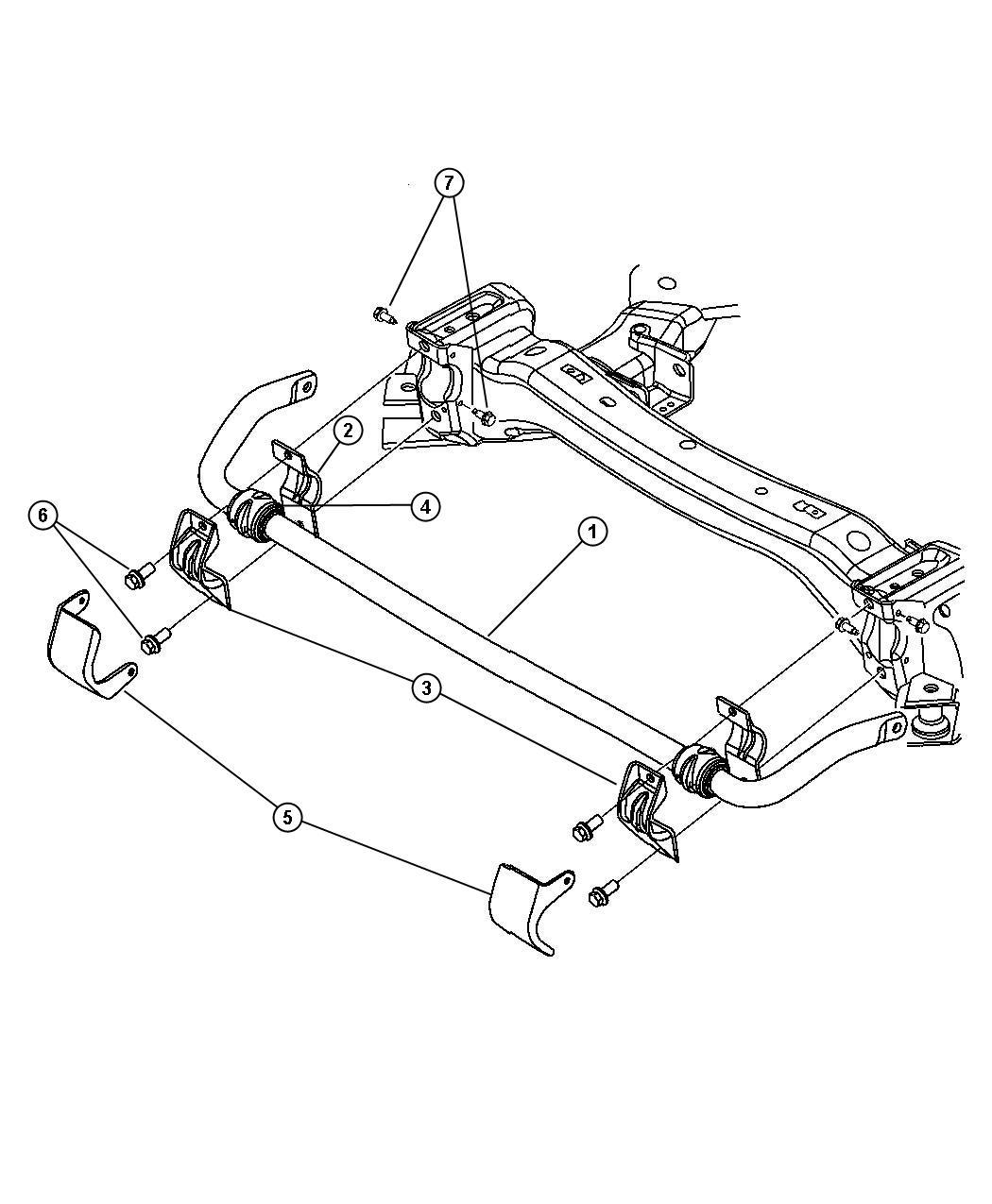 Dodge Magnum Bushing Cushion Isolator Front