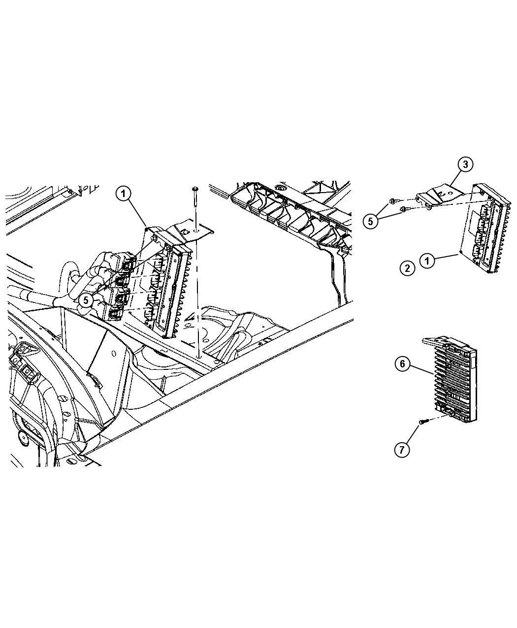 2006 Dodge Charger Module. Powertrain control. New part