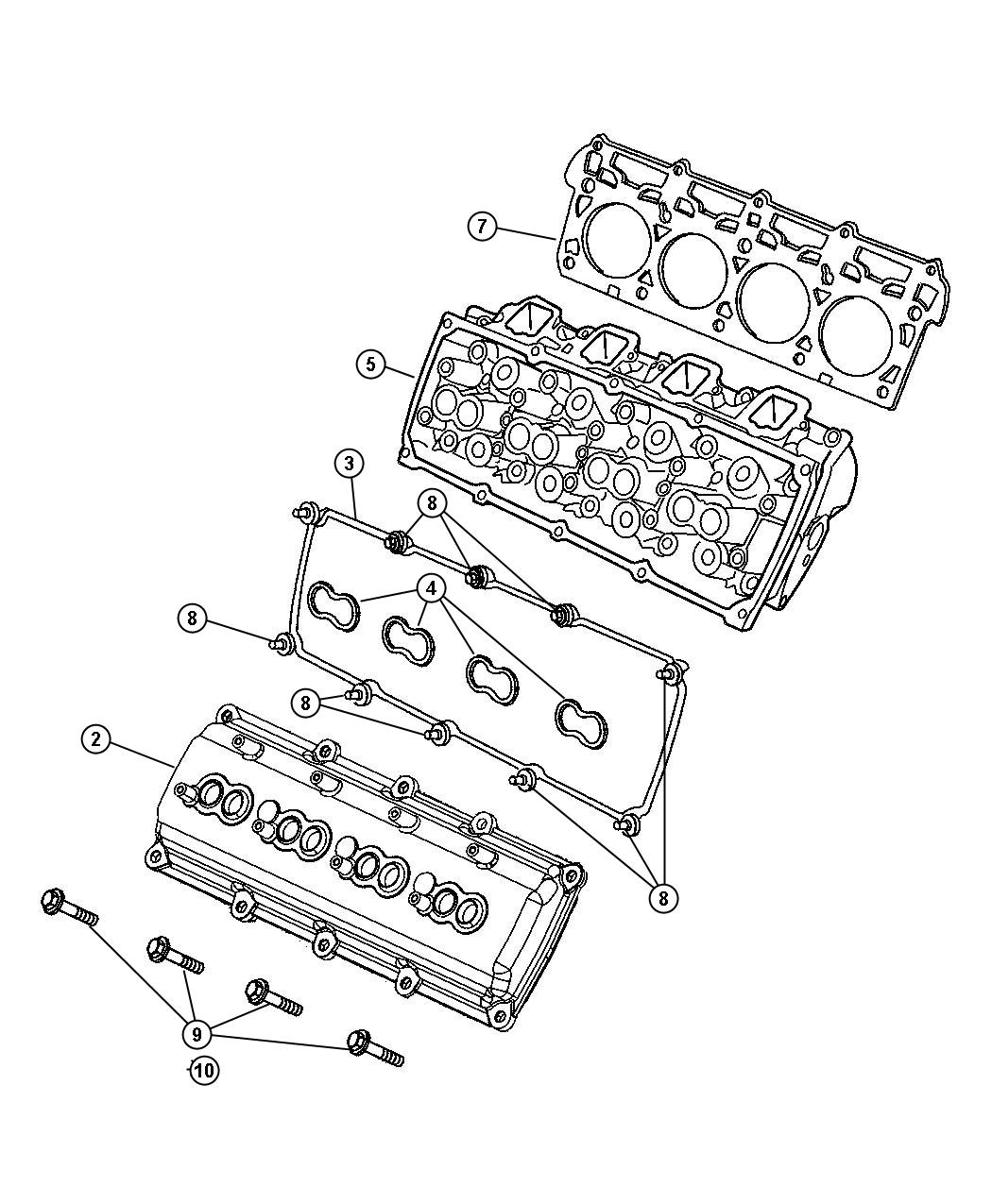 Chrysler 300 Cover Cylinder Head Used For Right And