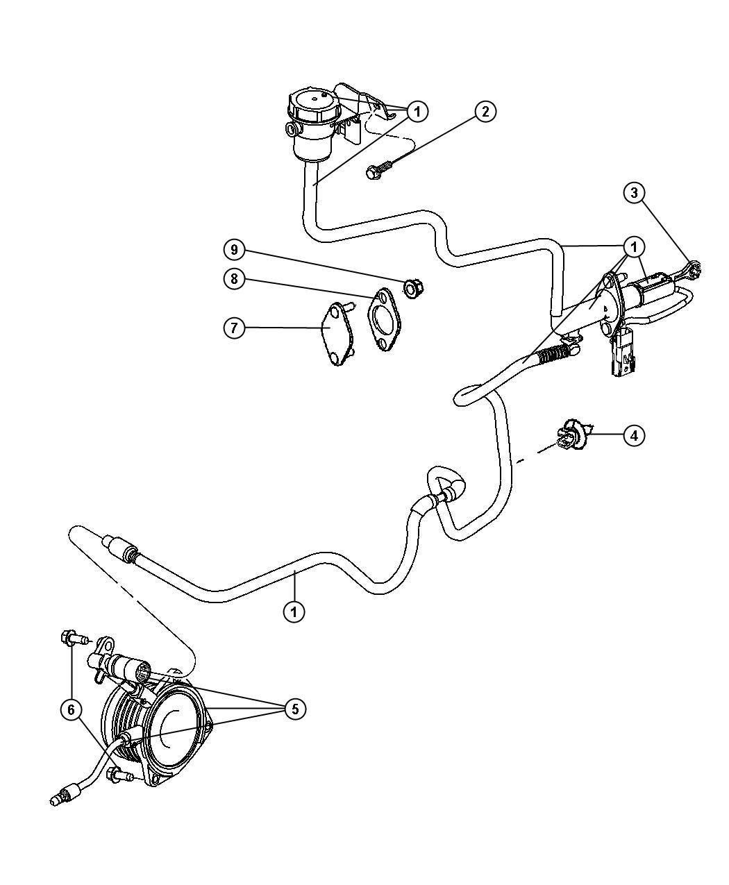 Chrysler PT Cruiser Bushing. Hydraulic clutch actuator