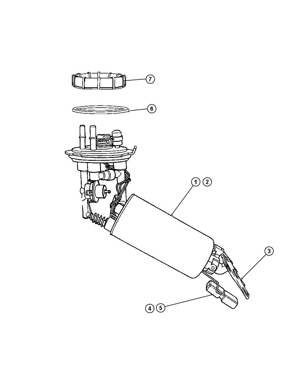 Chrysler PT Cruiser Level unit package. Fuel. Diesel. Tank