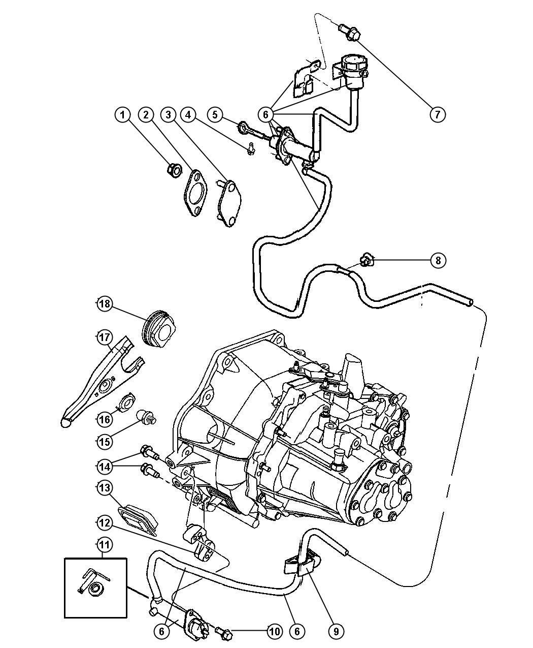 Jeep Patriot Actuator. Hydraulic clutch. Transmission