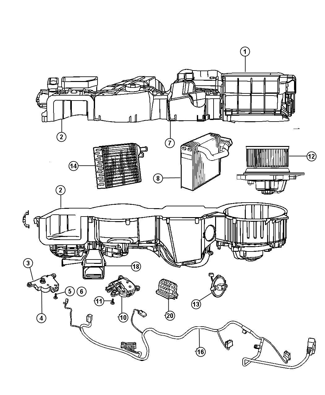 2009 Jeep Compass Actuator. Mode control. Air