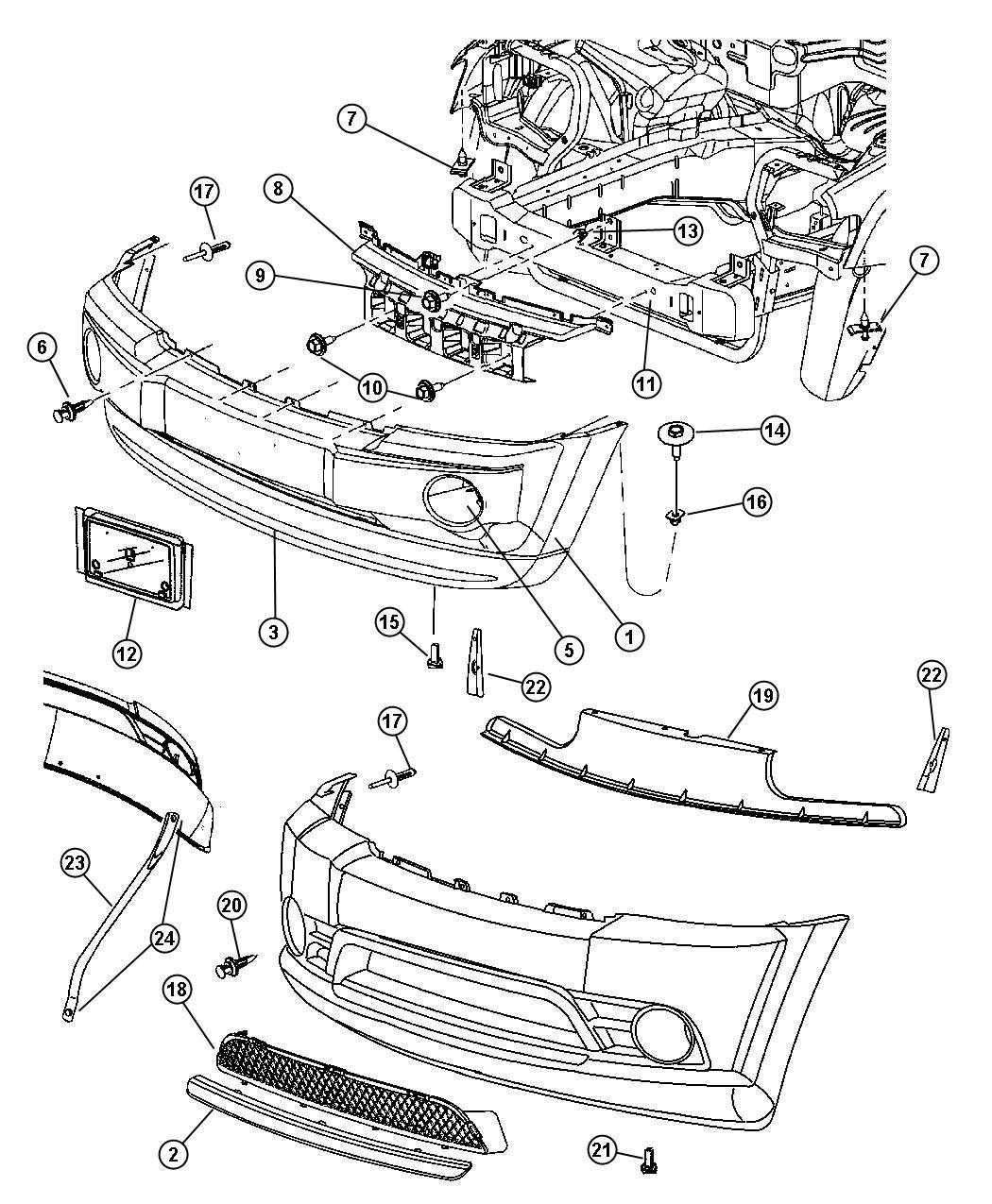 Chrysler 300 Air Dam Color Body Fascias