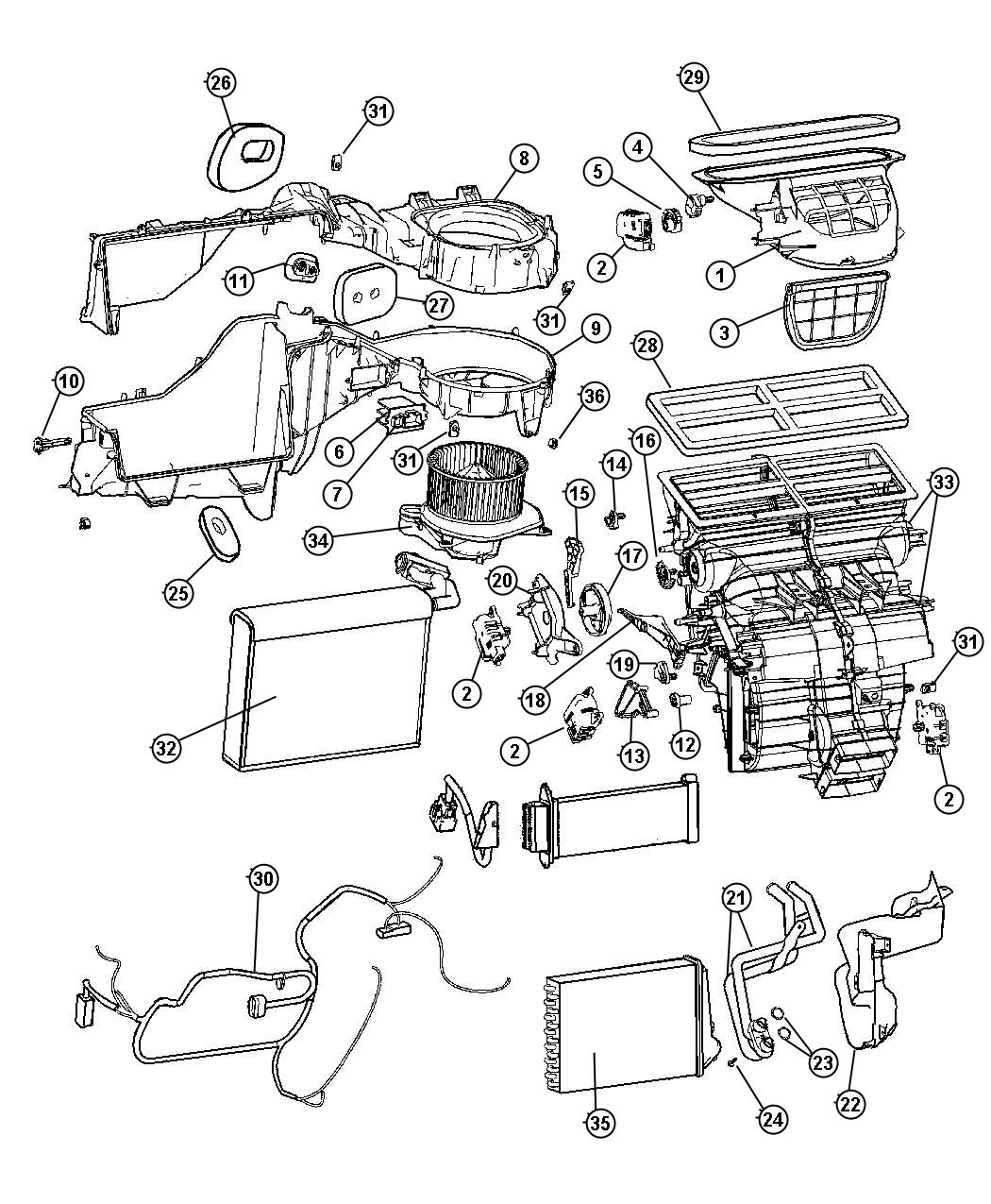 2006 Jeep Grand Cherokee Resistor. Blower motor