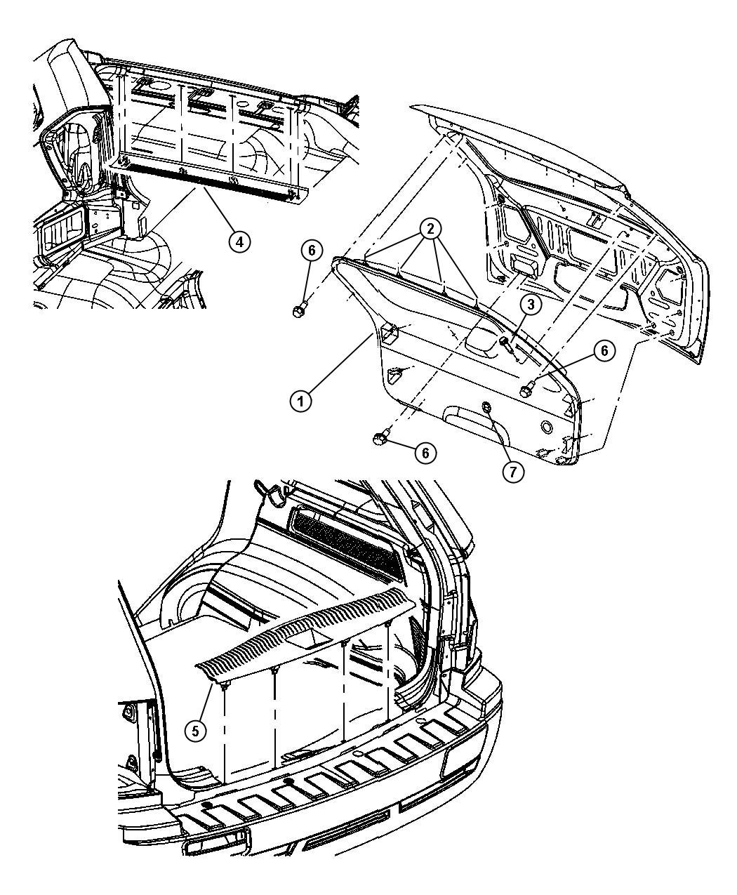 2006 Jeep Grand Cherokee Clip. Liftgate. Trim: [all trim