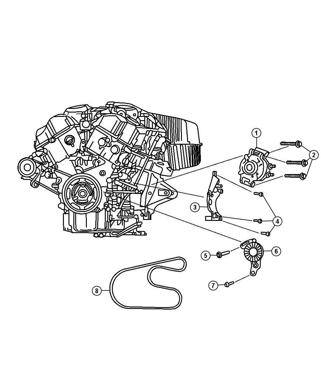 Chrysler Sebring Belt. Used for: alternator and a/c