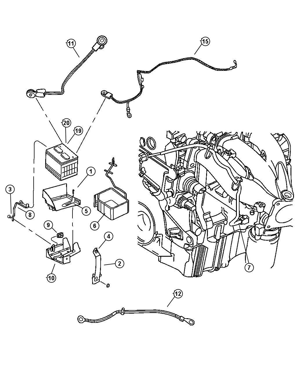 Chrysler Sebring Nut M10x1 50 Battery Ground Negative