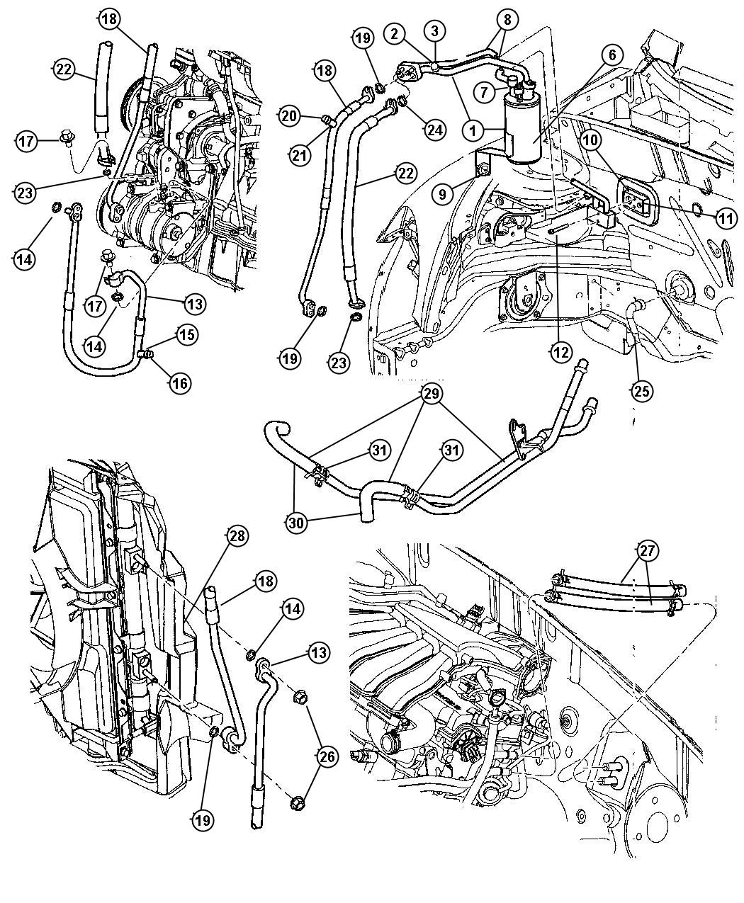 Service Manual Chrysler Pt Cruiser Heater Hose Replacement