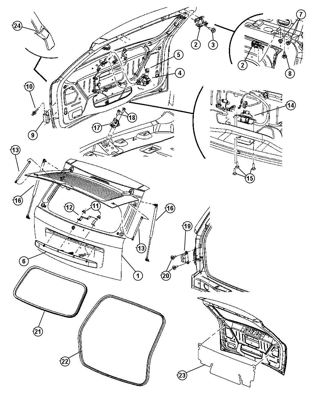 2006 Jeep Grand Cherokee Handle. Liftgate. [psb]. Color
