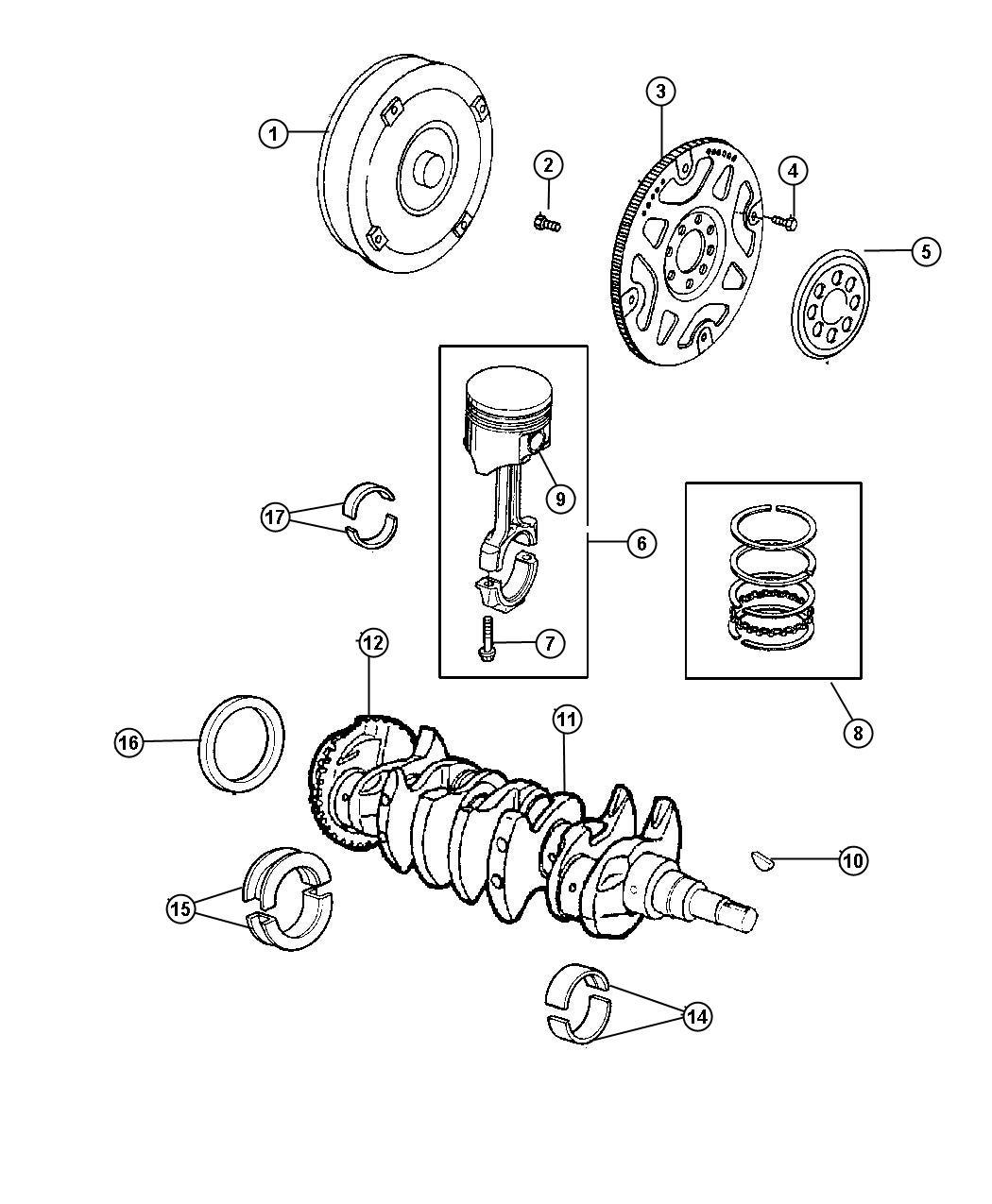 Dodge Nitro Piston Ring Set Complete Engine Std