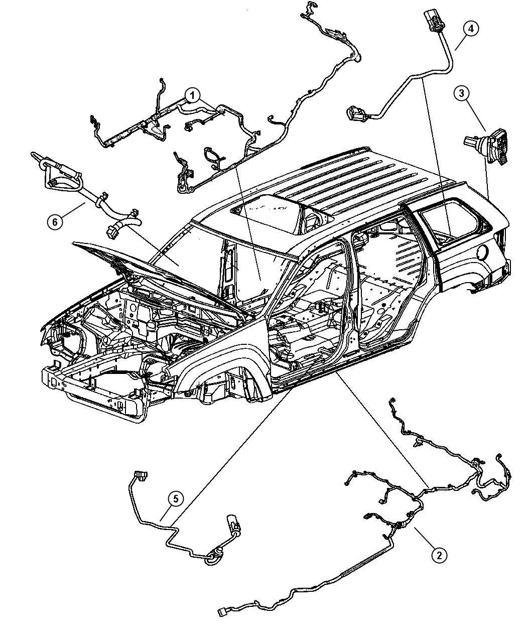 2006 Jeep Grand Cherokee Wiring. Fuel module. Tank, skid