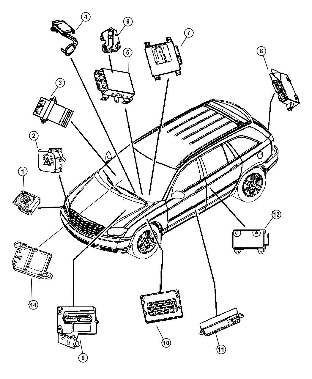 2008 Chrysler Pacifica Module. Seat memory. [-cma], [cma