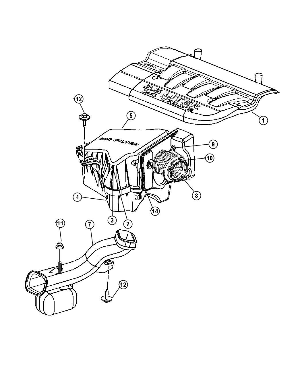 Chrysler Pacifica Element Filter Air Air Cleaner
