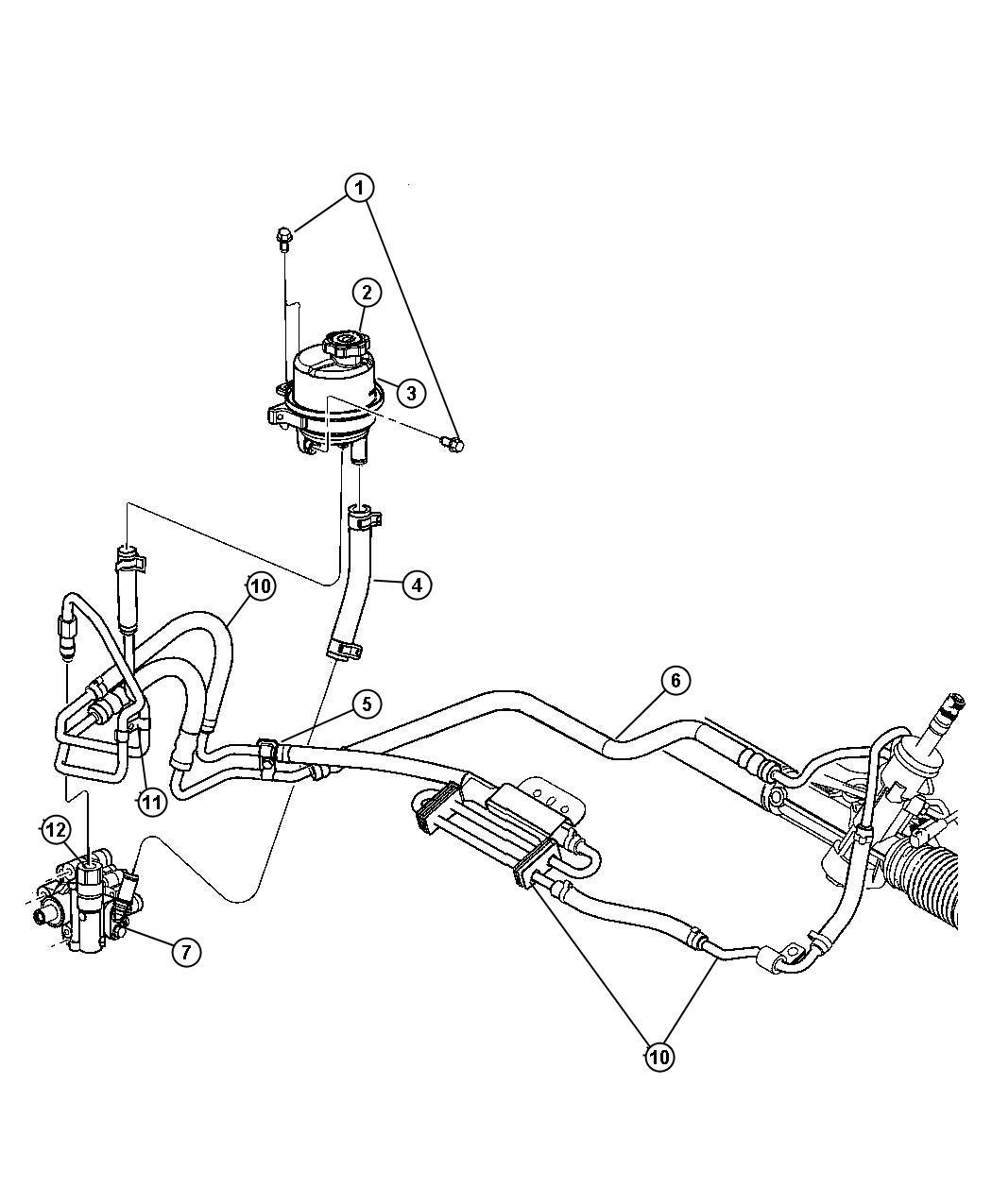 2011 Dodge Avenger Hose. Power steering return. Hoses