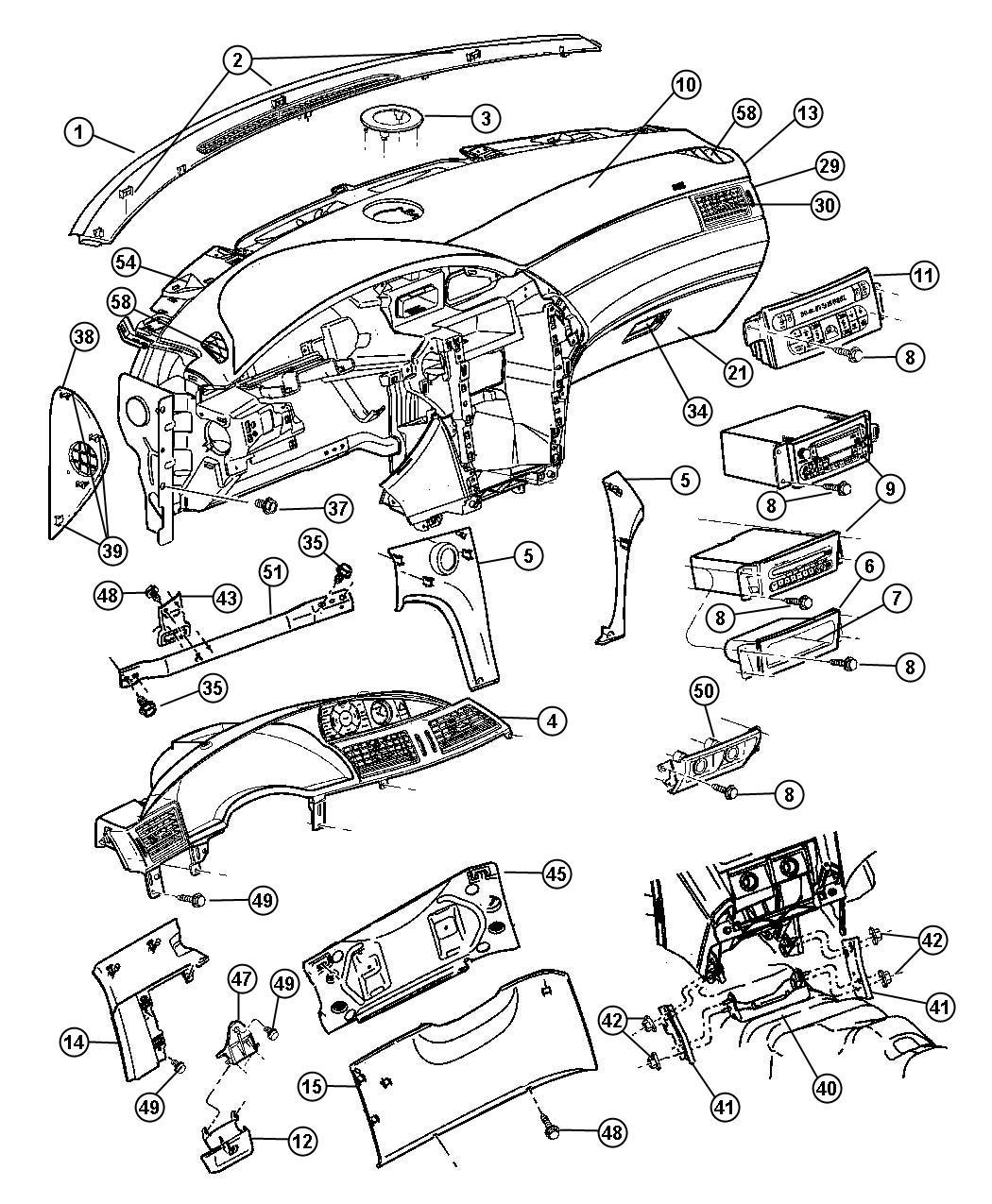 Dodge Caliber Kneeblocker Steering Column Opening