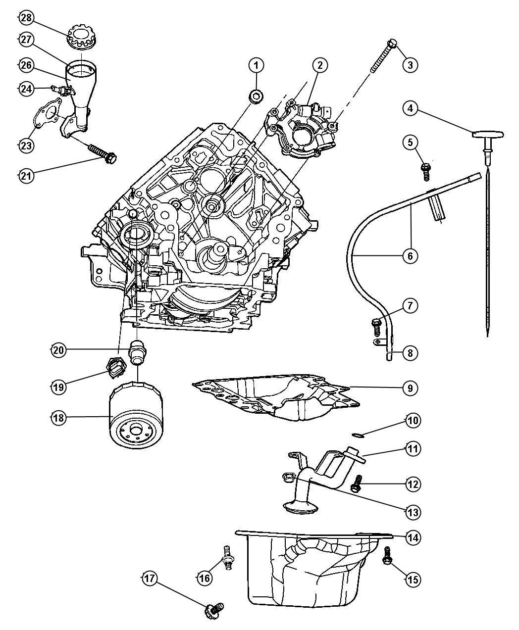 Jeep Grand Cherokee Pan Engine Oil With Plug Oiling