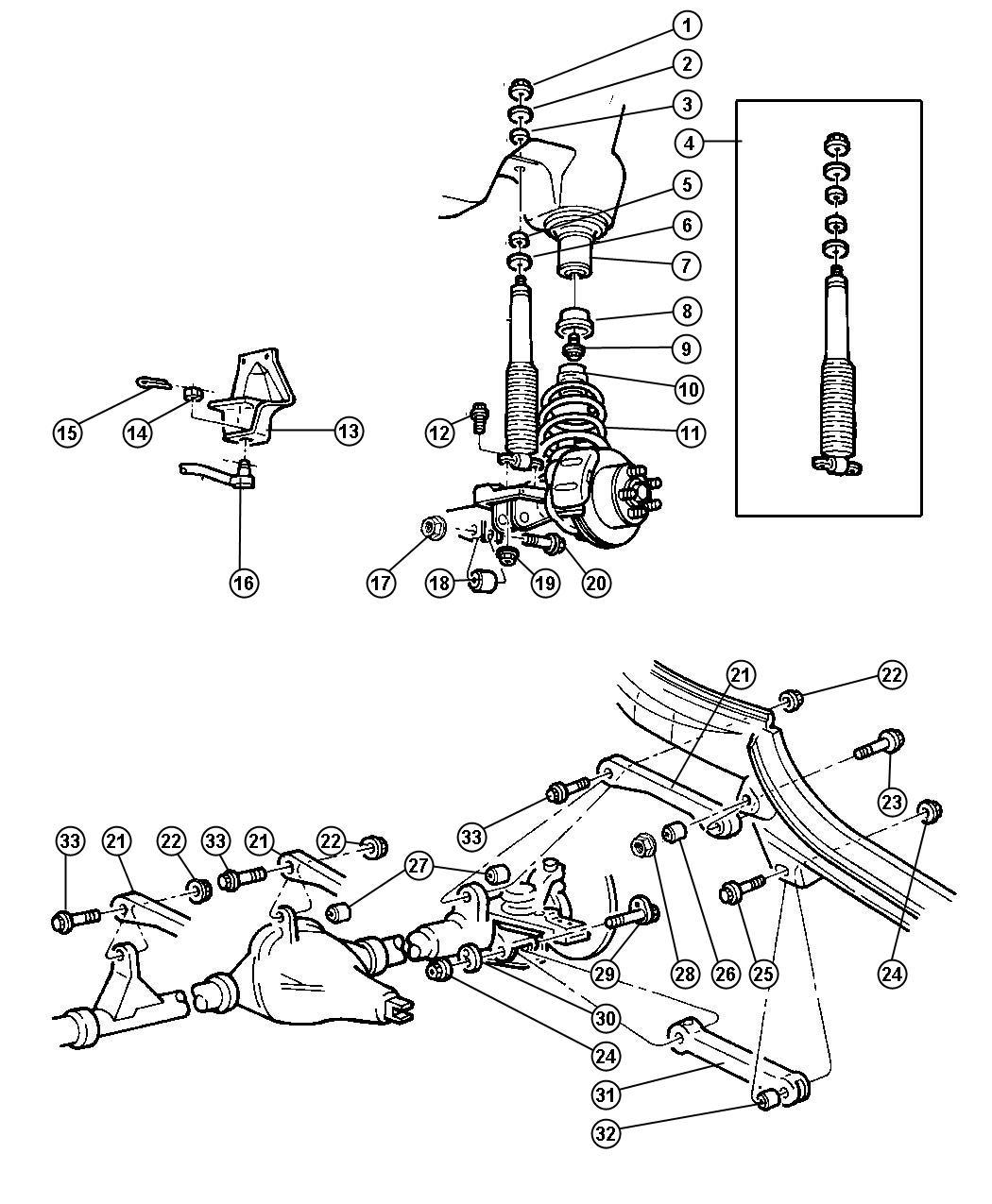 Jeep Wrangler Bar Track Suspension Arms Control