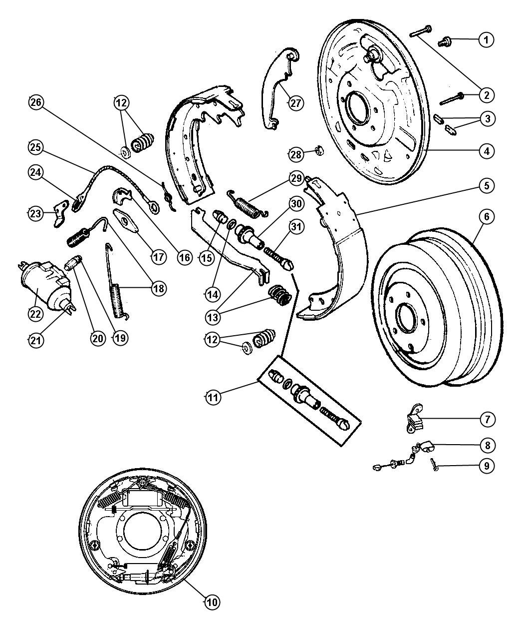 2006 Jeep Wrangler Cylinder. Wheel. Right or left. 03-10