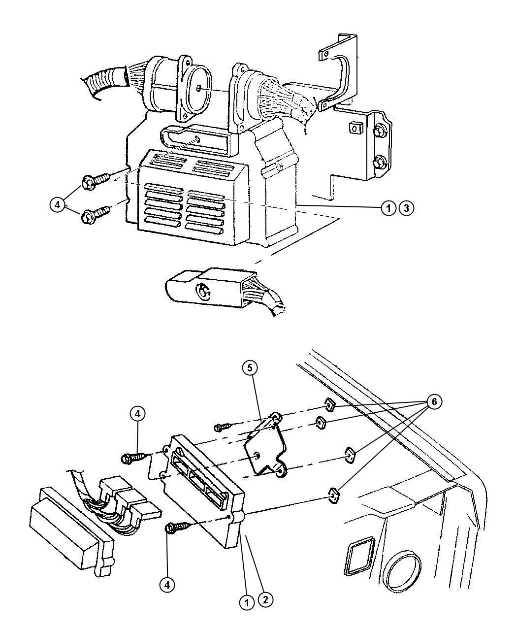 Jeep Liberty Module. Powertrain control. [electronic