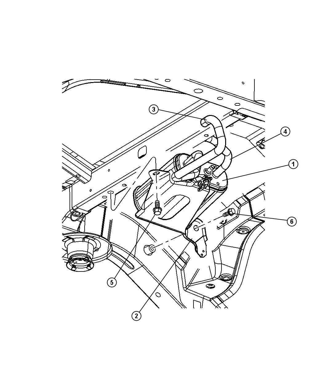 2005 Jeep Liberty Canister. Vapor. Pump, detection, leak