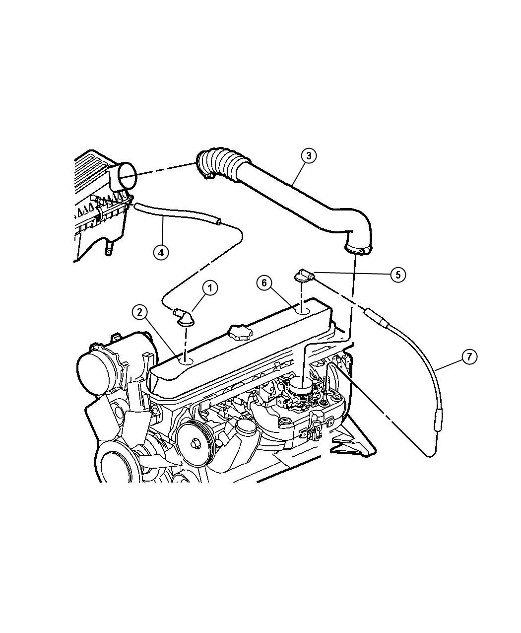 Jeep Wrangler Tube Crankcase Vent To Intake Manifold