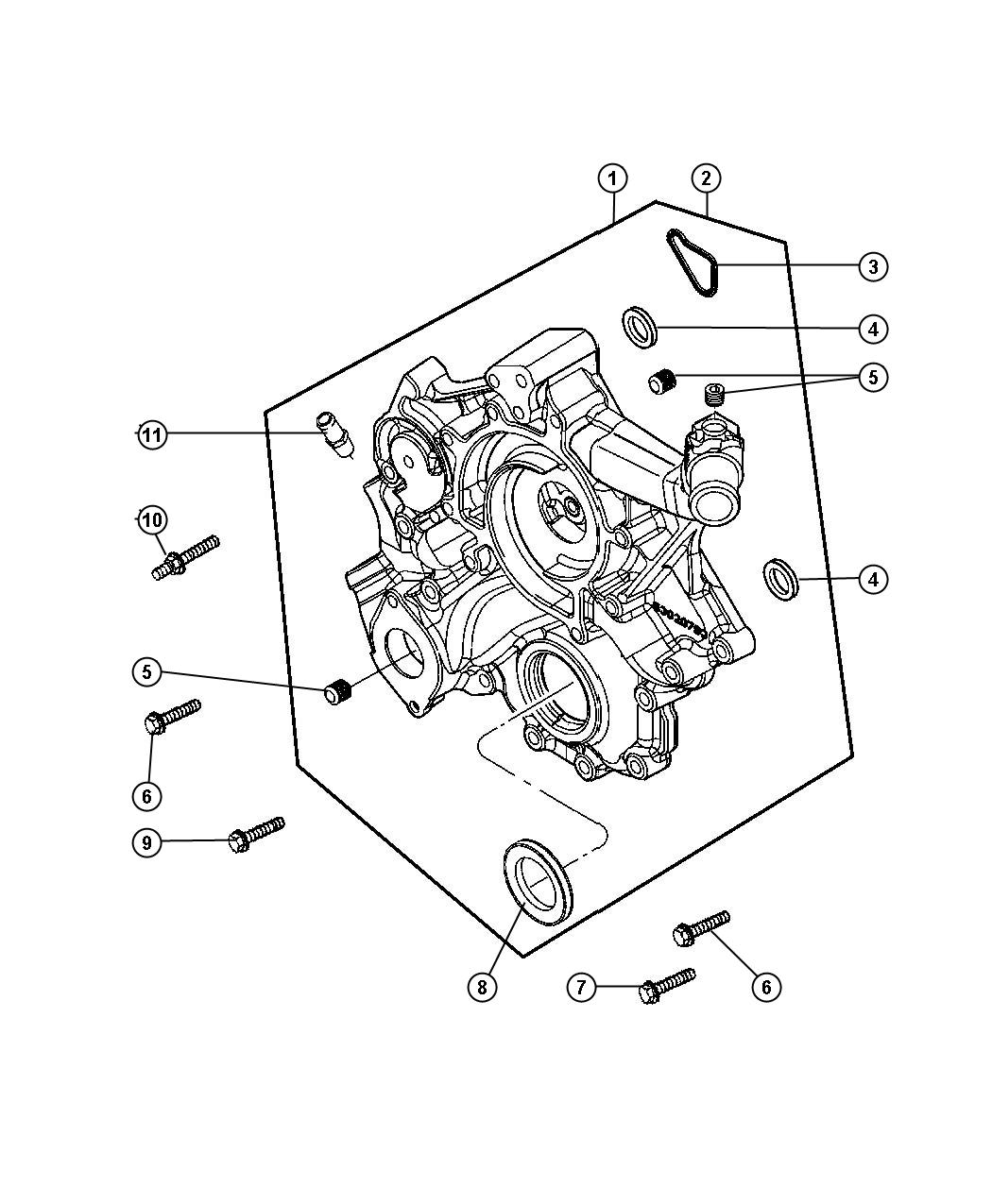 Jeep Grand Cherokee Cover Chain Case Timing Belt