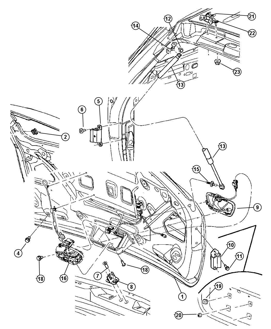 Chrysler Pacifica Actuator Power Door Locks Power