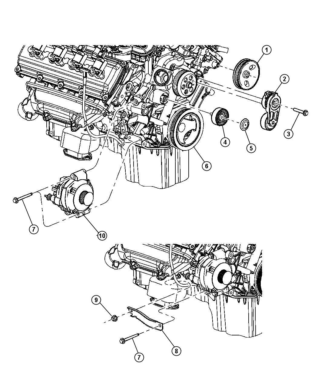 Dodge Grand Caravan Cap Pulley Engine Air Alternator