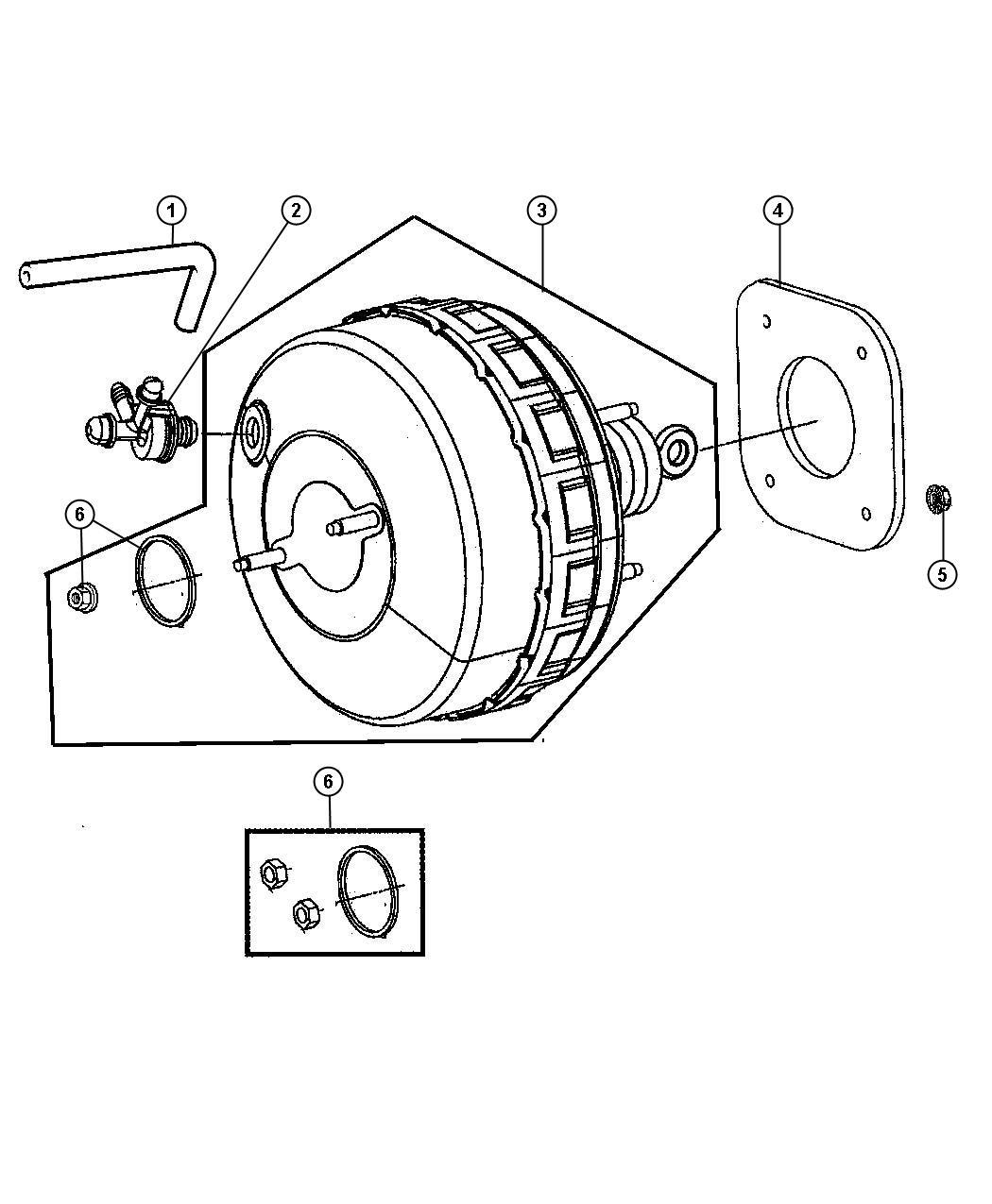 Dodge Grand Caravan Hose Brake Booster Vacuum