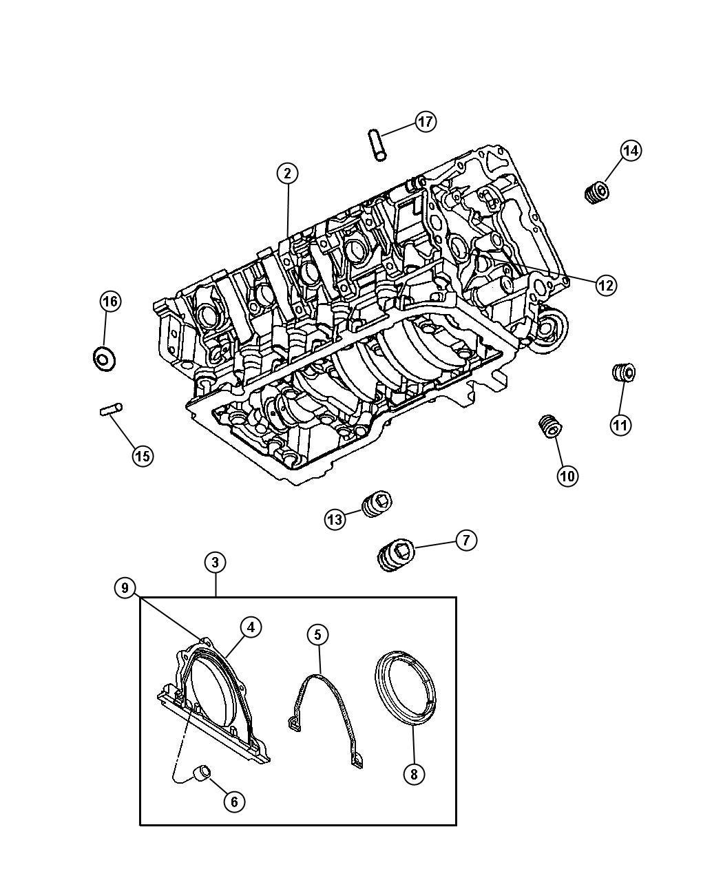 Dodge Ram Engine Long Block Remanufactured