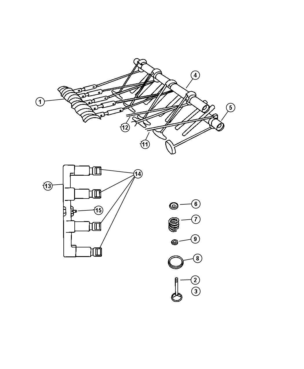 Dodge Ram Used For Lifters And Yoke Hydraulic Engine Camshaft Valvetrain Hemi