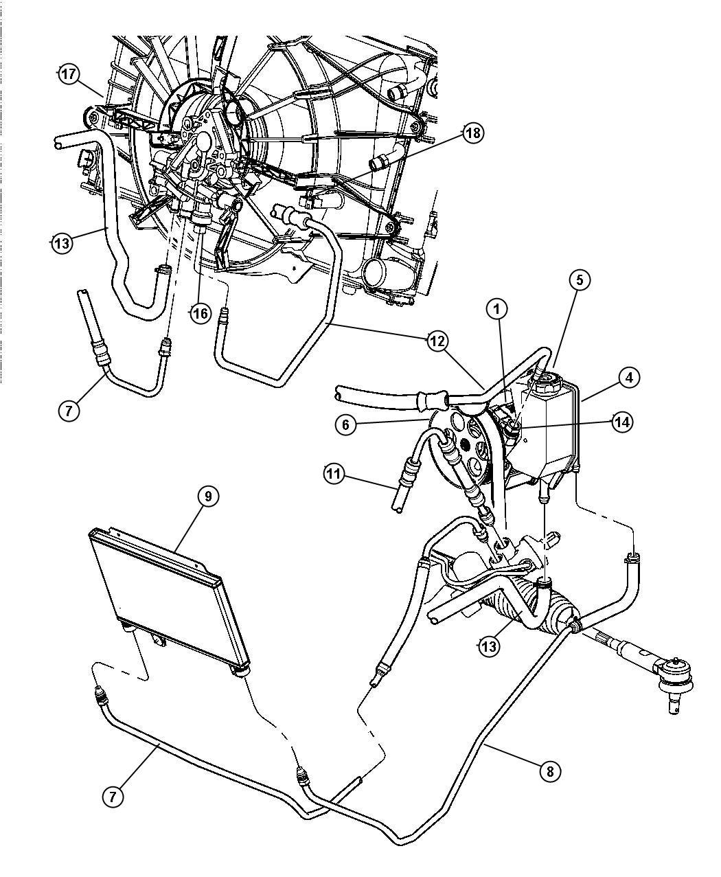 Dodge Viper Line, line package. Power steering. Steering