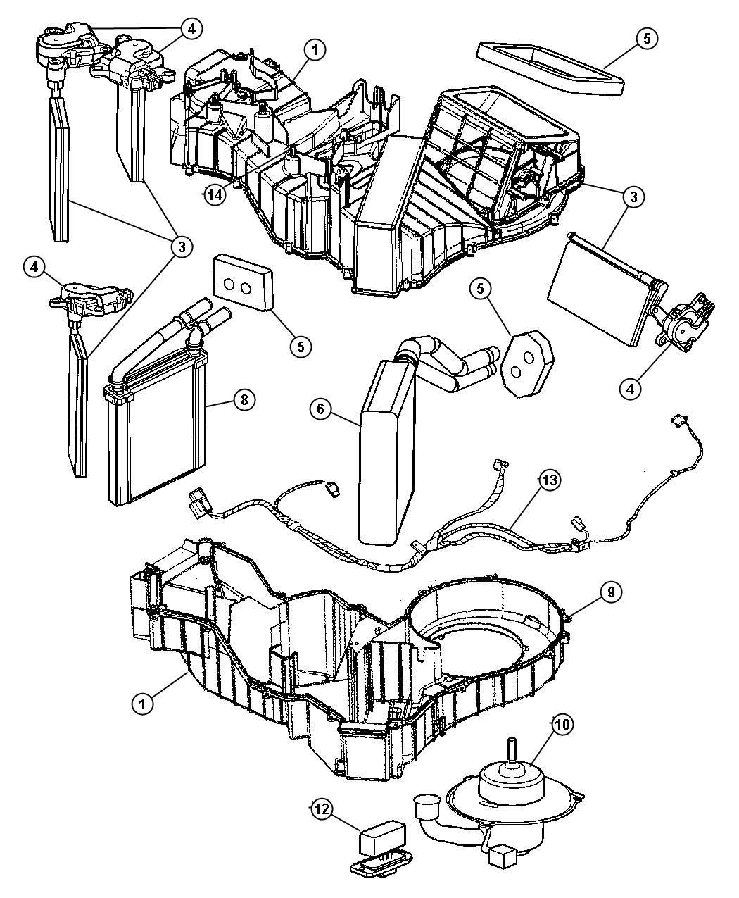 2006 Dodge Viper Resistor. Blower motor. [air conditioning