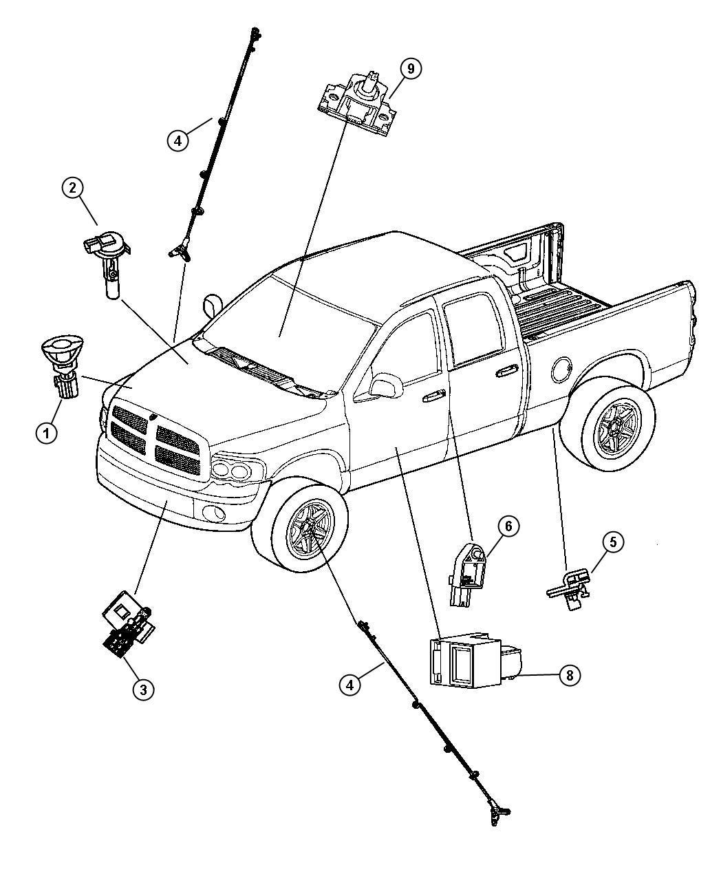 2009 Jeep Liberty Sensor, sensor kit. Strain gage, strain