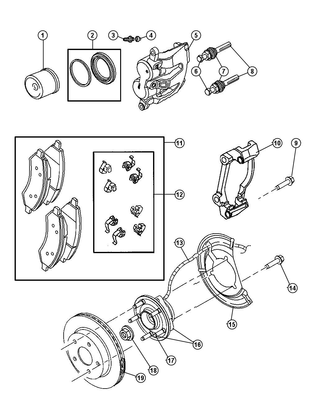 2006 Dodge Dakota Rotor. Brake. Front. Brakes, mopar