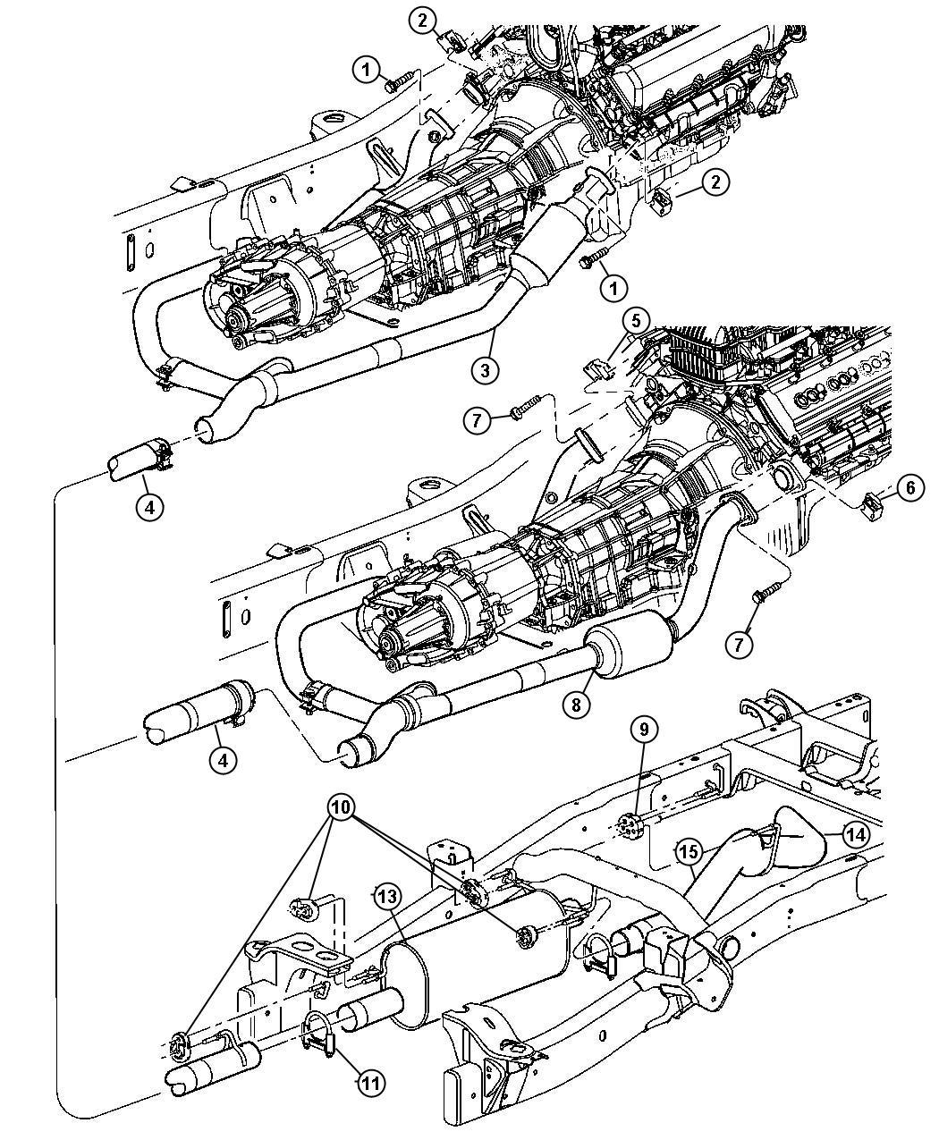 2007 Dodge Ram 1500 Tailpipe. Exhaust. Ekg, system