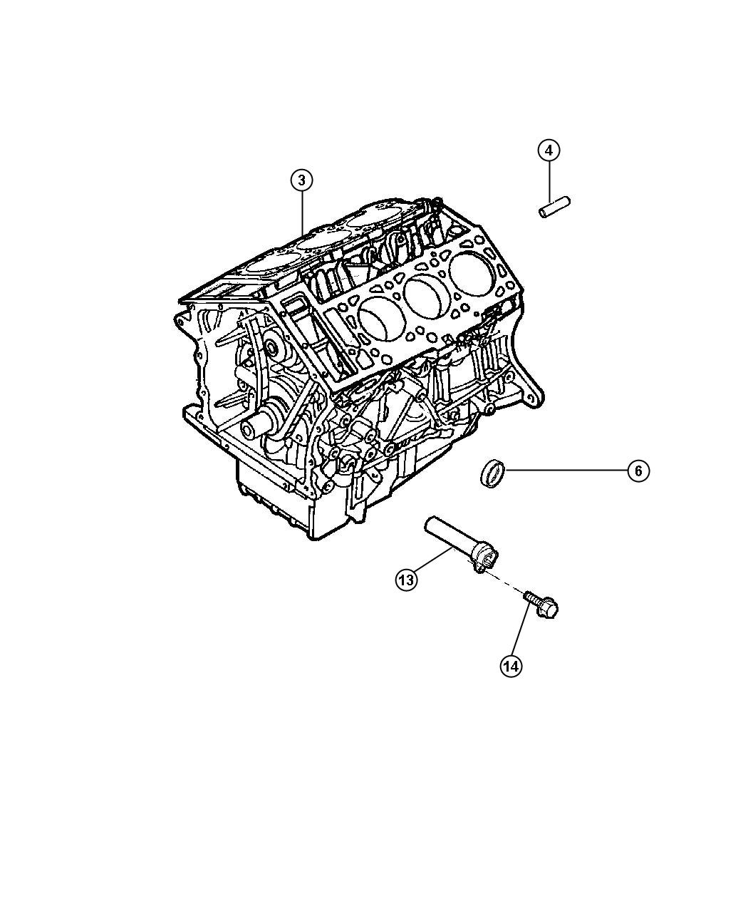 Dodge Stratus Engine. Long block. Remanufactured