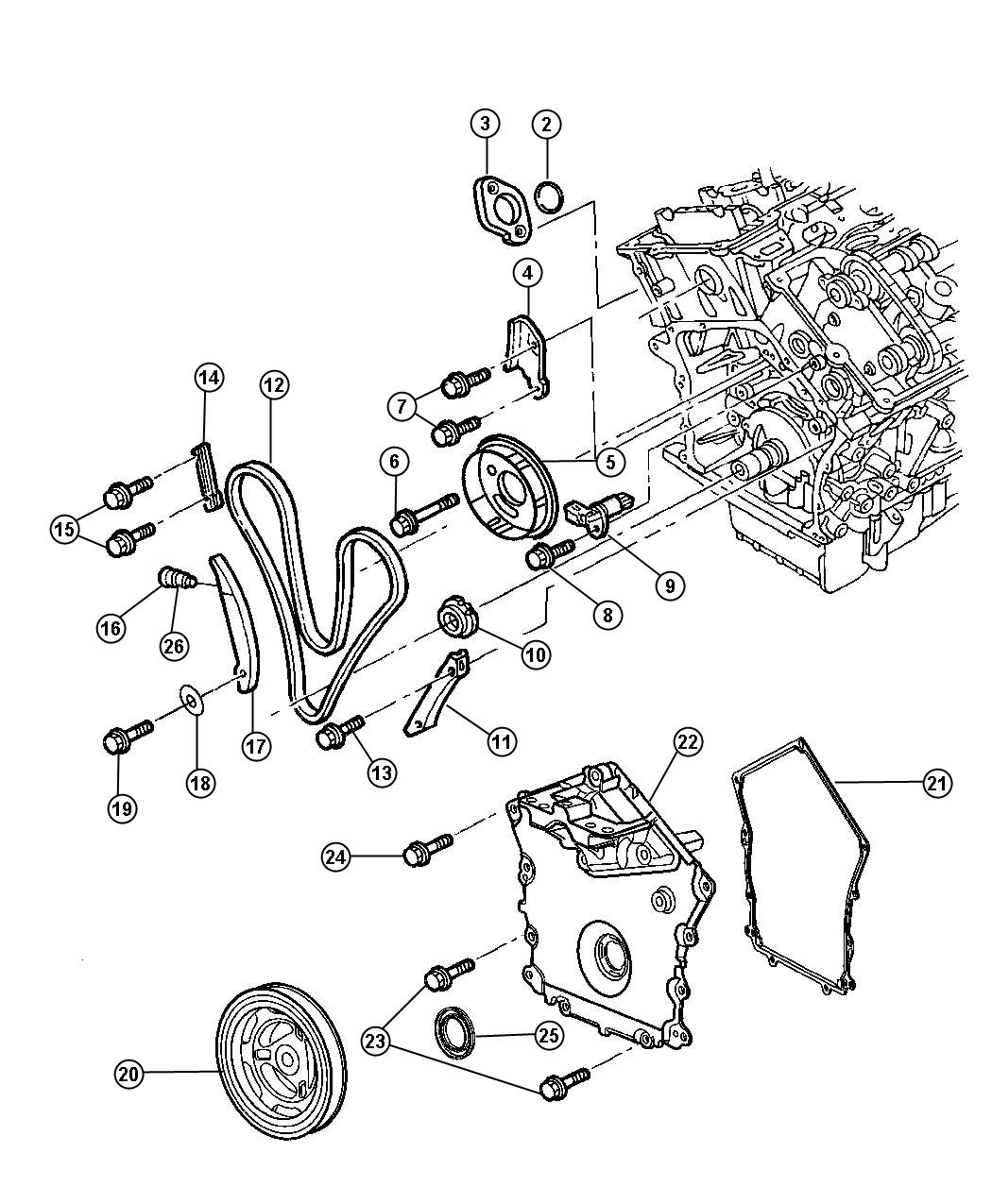 Chrysler Sebring O Ring Tensioner Timing Engine