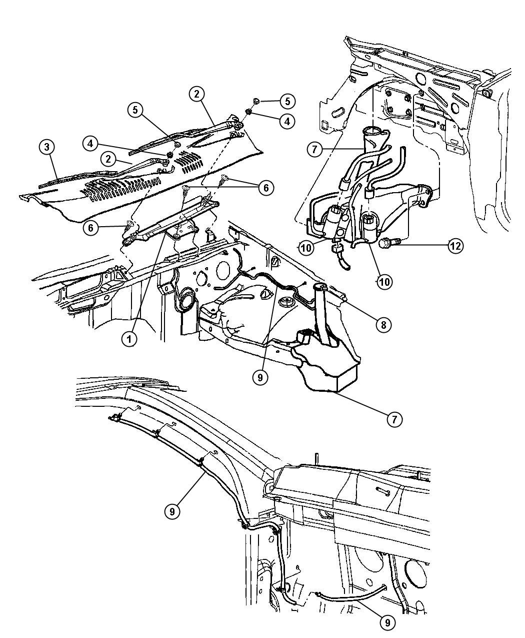 Dodge Grand Caravan Pump Windshield Washer Dual