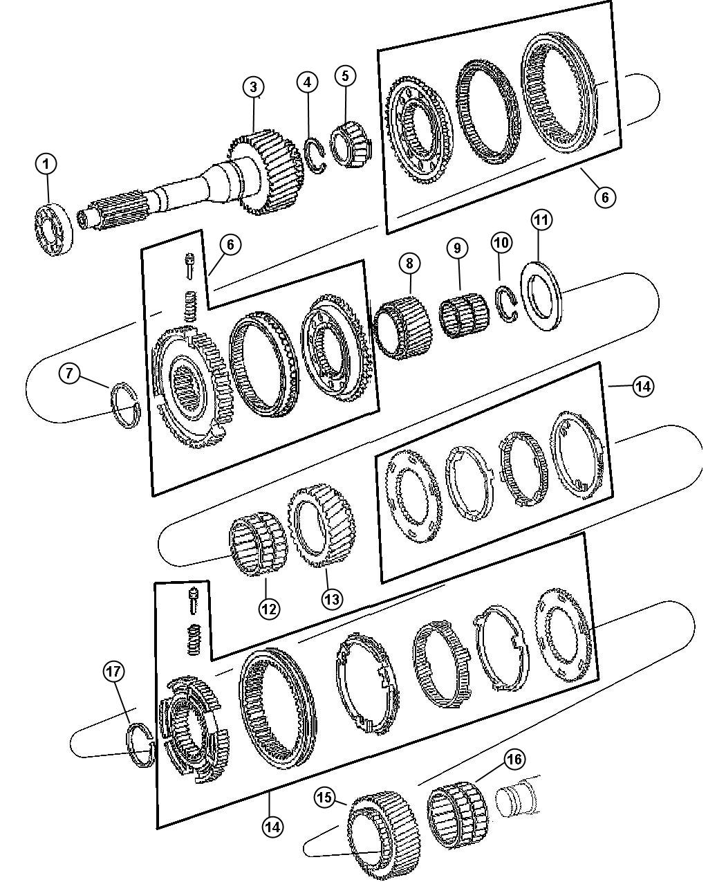Dodge Ram Snap Ring Body 94 Input Shaft Gears