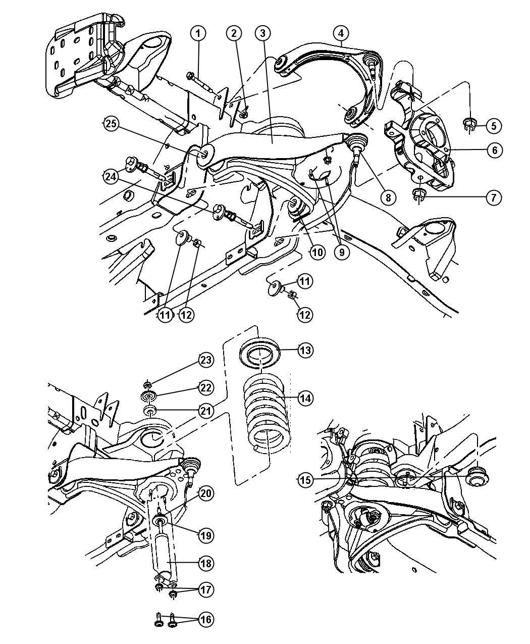 2006 Dodge Ram 1500 Bushing. Control arm. Rear. Suspension