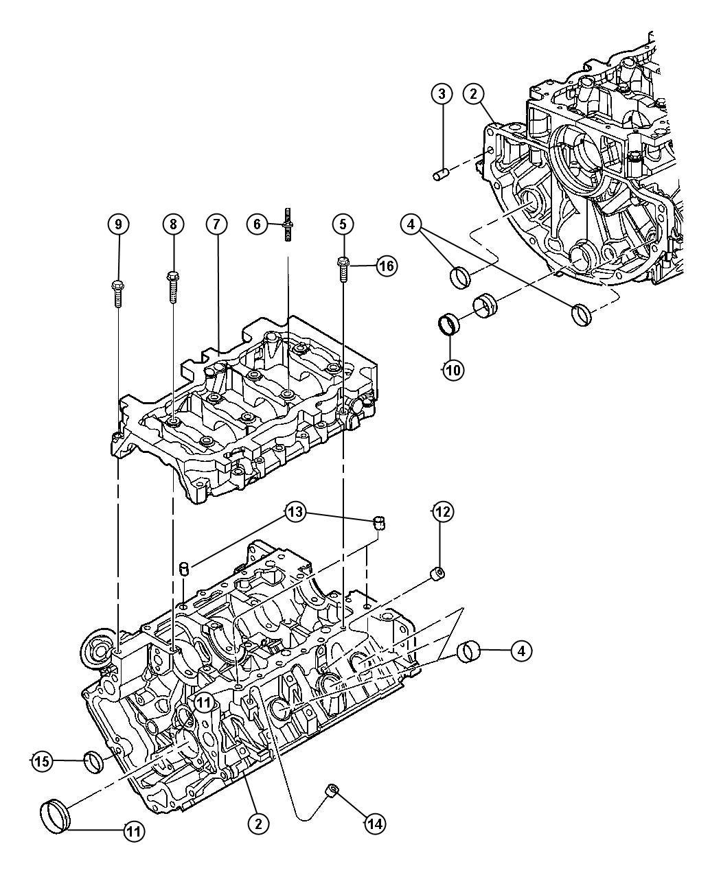 2006 Jeep Commander Engine. Long block. Remanufactured