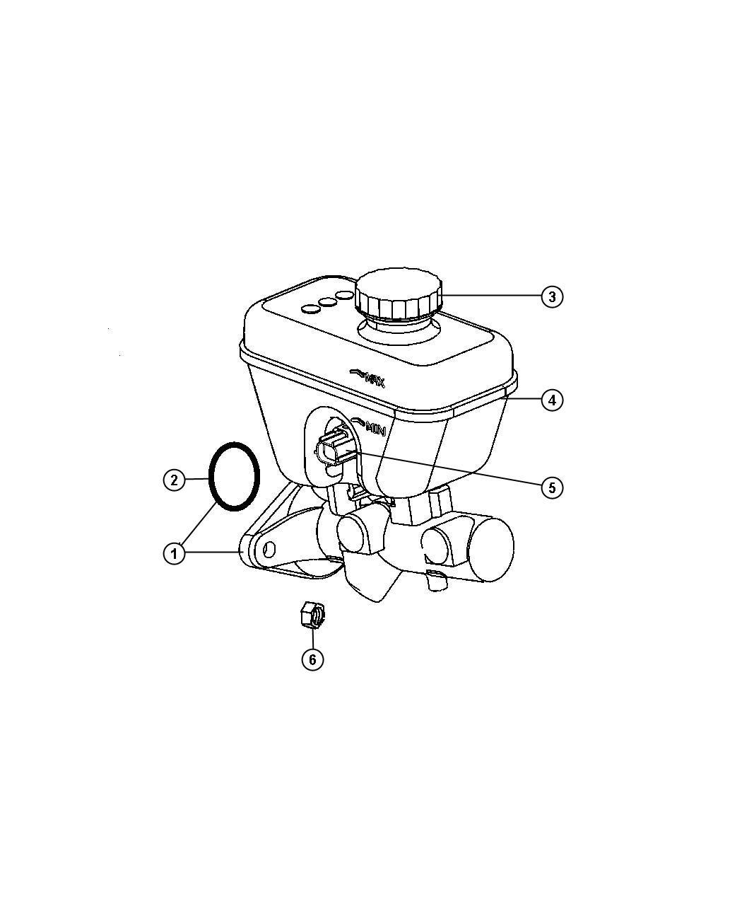 2006 Jeep Commander Reservoir. Brake master cylinder