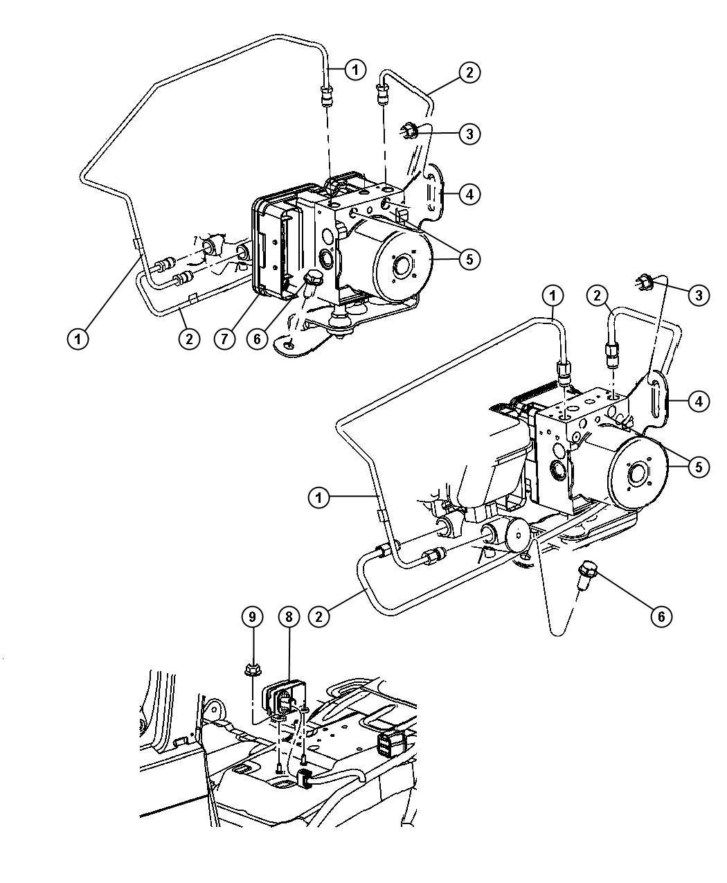 2006 Jeep Commander Control unit. Anti-lock brake. Hcu