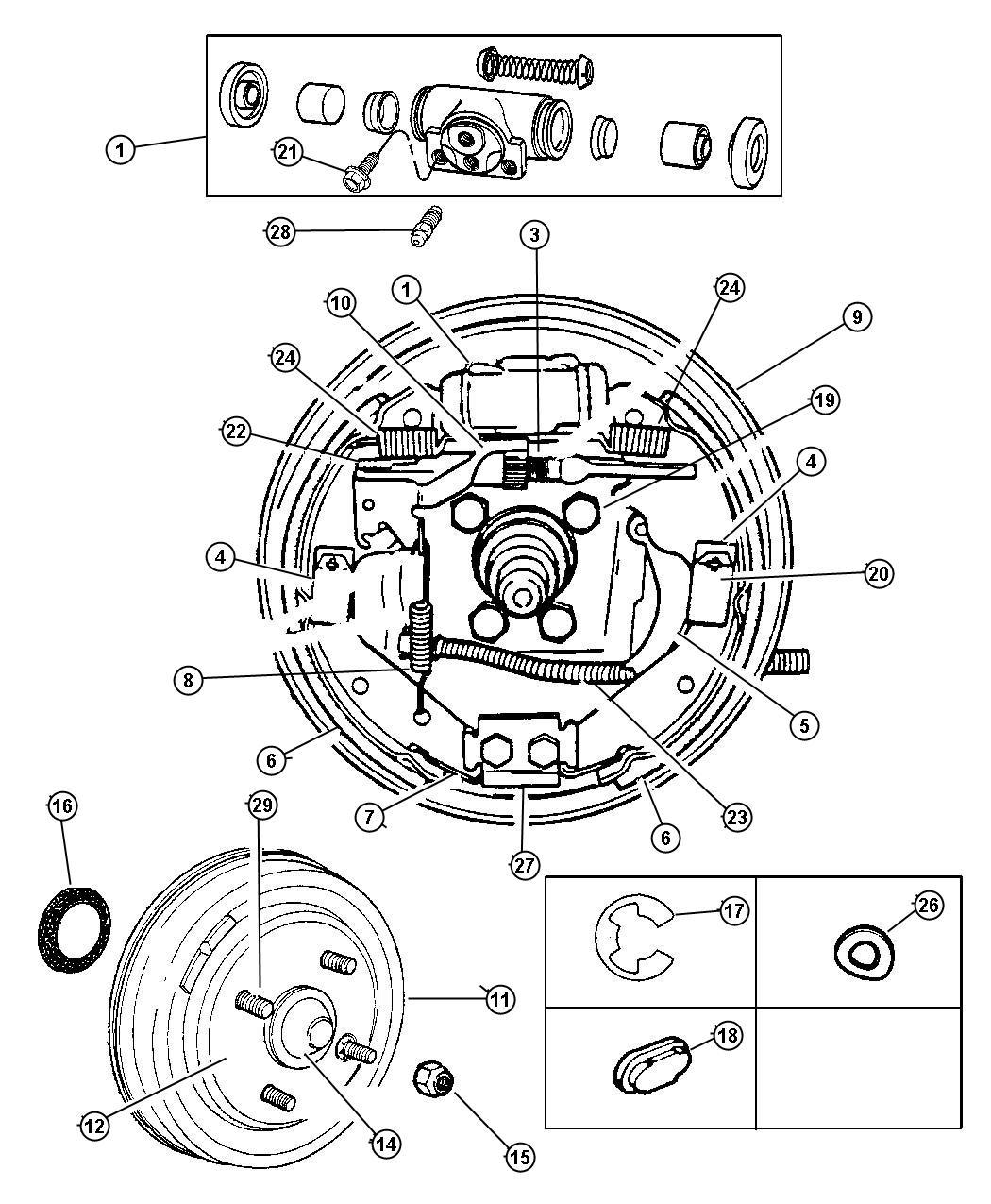 2010 Dodge Avenger Drum. Brake. Disc, rear, front